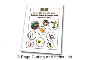 Easy Murphy bed cutting and items list