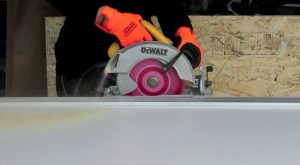 cutting wood for a Murphy bed