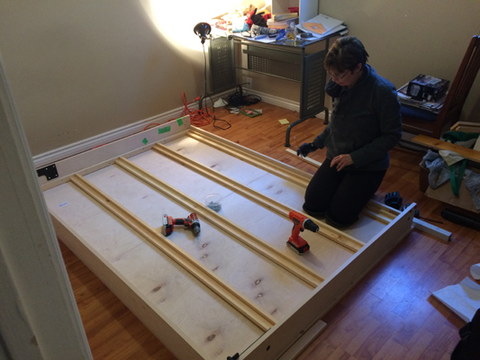 Do it yourself murphy bed customer reviews in canada easy diy dianne drilling wall bed frame struts view larger dianne and girl on finished diy solutioingenieria Images