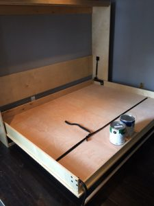 Finished wall bed in British Columbia