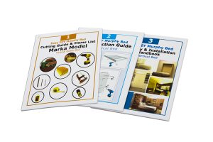 set of 3 how to build wall bed books